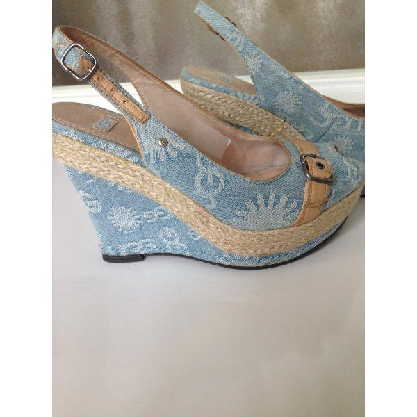 UGG Australia Platform High-Heeled Sandal azure-beige