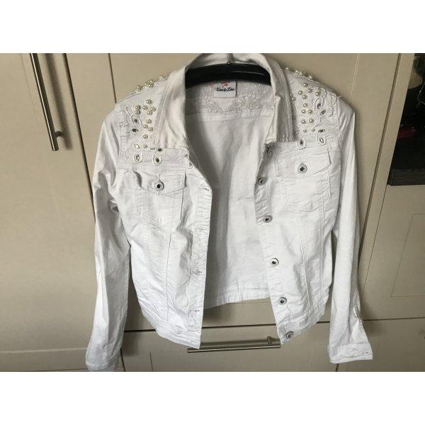 Tolle weiße Jeansjacke