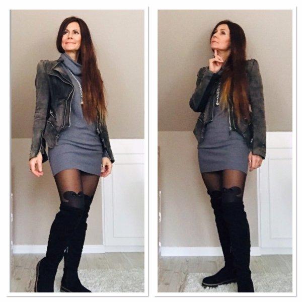 Damo Long Sweater grey