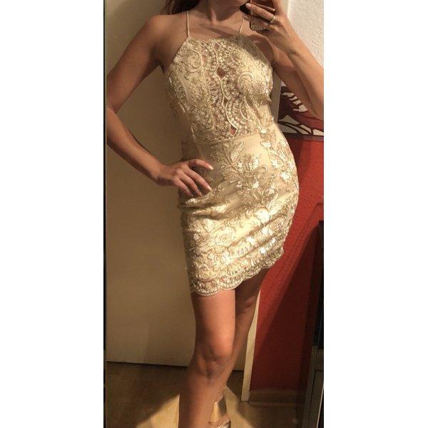 Tolles Kleid in gold Gr.S/M Neu