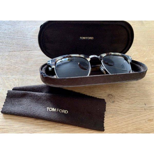 Tom Ford Oval Sunglasses light brown-black