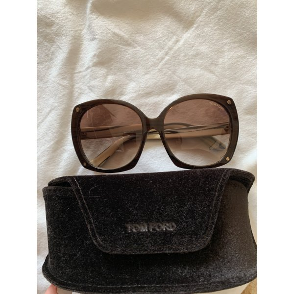Tom Ford Oval Sunglasses cognac-coloured-cream