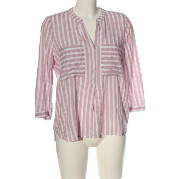 Tom Tailor Denim Hemd-Bluse pink-weiß Streifenmuster Business-Look