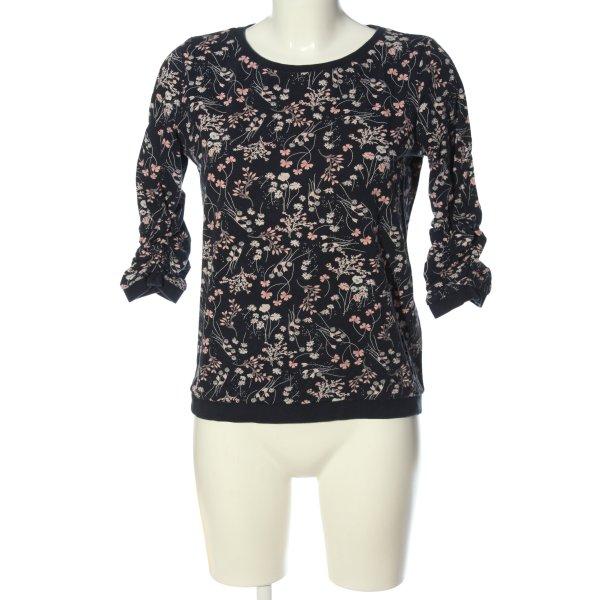 Tom Tailor Denim Sweatshirt Allover-Druck Casual-Look