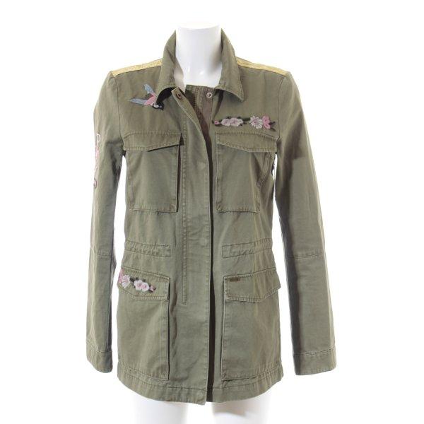 Tom Tailor Lange Jacke grüngrau abstraktes Muster Casual-Look
