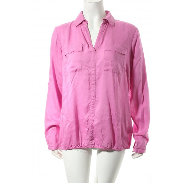 Tom Tailor Schlupf-Bluse pink Casual-Look