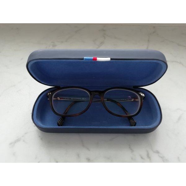 Tommy Hilfiger-Brille Havanna/goldfarben mit Sehstärke