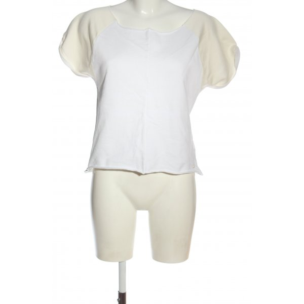 Tommy Hilfiger Cropped Top weiß-creme Casual-Look