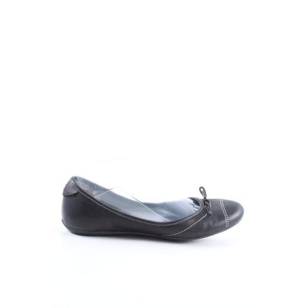 Tommy Hilfiger faltbare Ballerinas schwarz Casual-Look