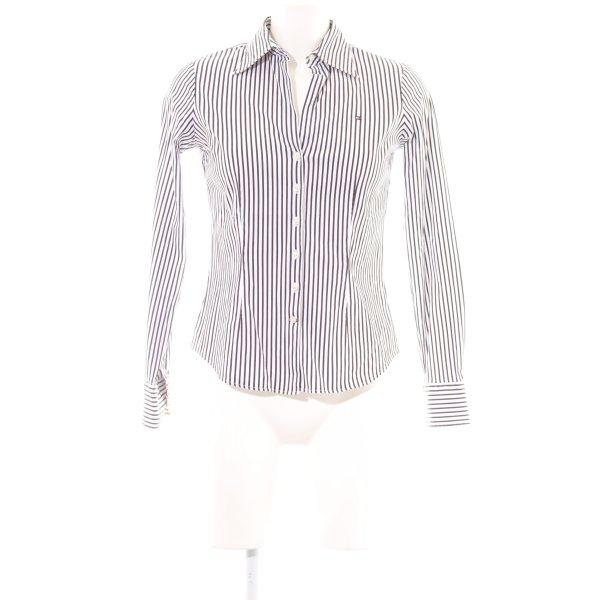 Tommy Hilfiger Hemd-Bluse braun-weiß Streifenmuster Casual-Look