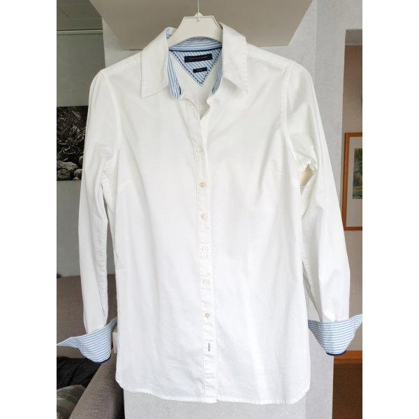 Tommy Hilfiger Hemd Hemdbluse Fitted Weiß S