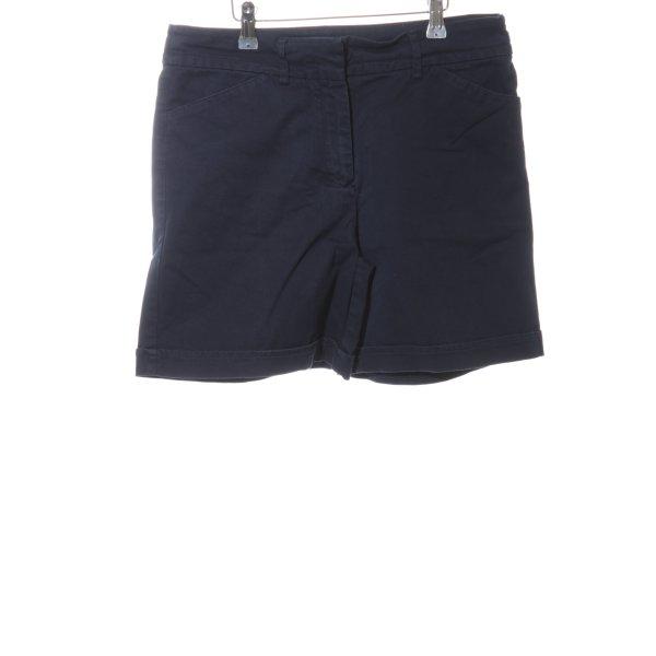 Tommy Hilfiger High-Waist-Shorts blau Casual-Look