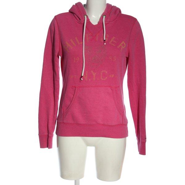 Tommy Hilfiger Kapuzensweatshirt pink Schriftzug gedruckt Casual-Look
