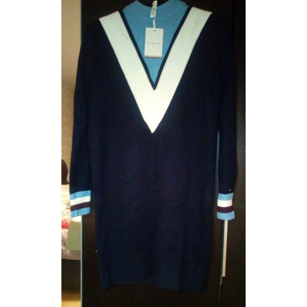 Tommy Hilfiger Kleid in navyblau/hellblau/weiß