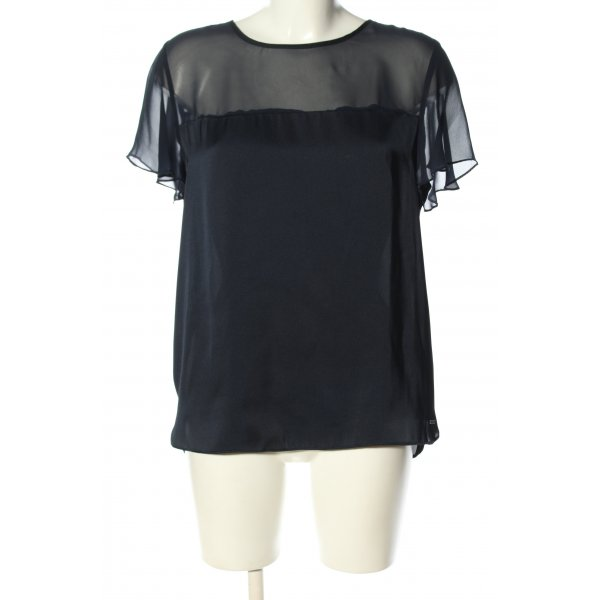 Tommy Hilfiger Kurzarm-Bluse schwarz Casual-Look