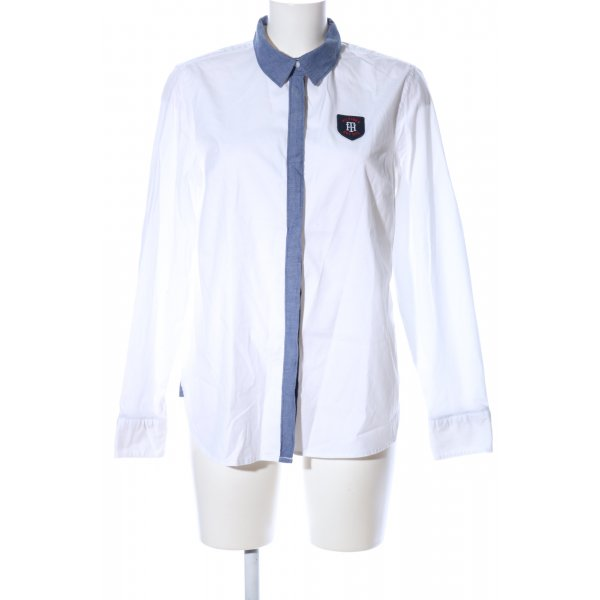 Tommy Hilfiger Langarmhemd weiß-blau Casual-Look