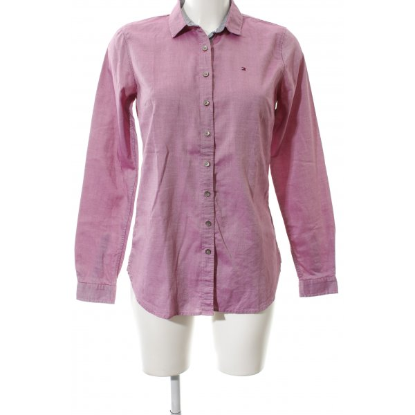 Tommy Hilfiger Langarmhemd rosa Logostickerei