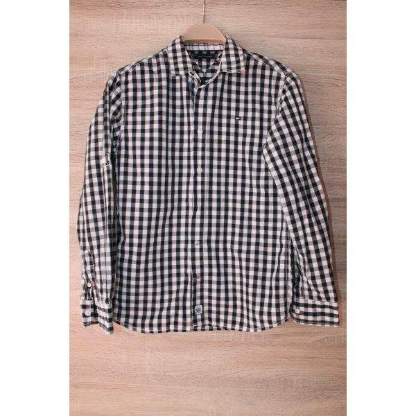 Tommy Hilfiger Langarmhemd schwarz-weiß Casual-Look