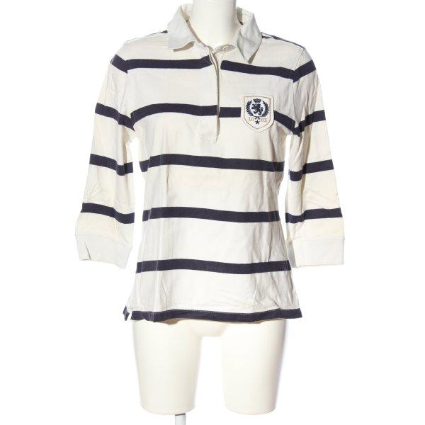 Tommy Hilfiger Polo-Shirt weiß-blau Streifenmuster Casual-Look