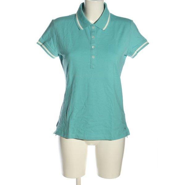 Tommy Hilfiger Polo-Shirt blau-weiß Casual-Look
