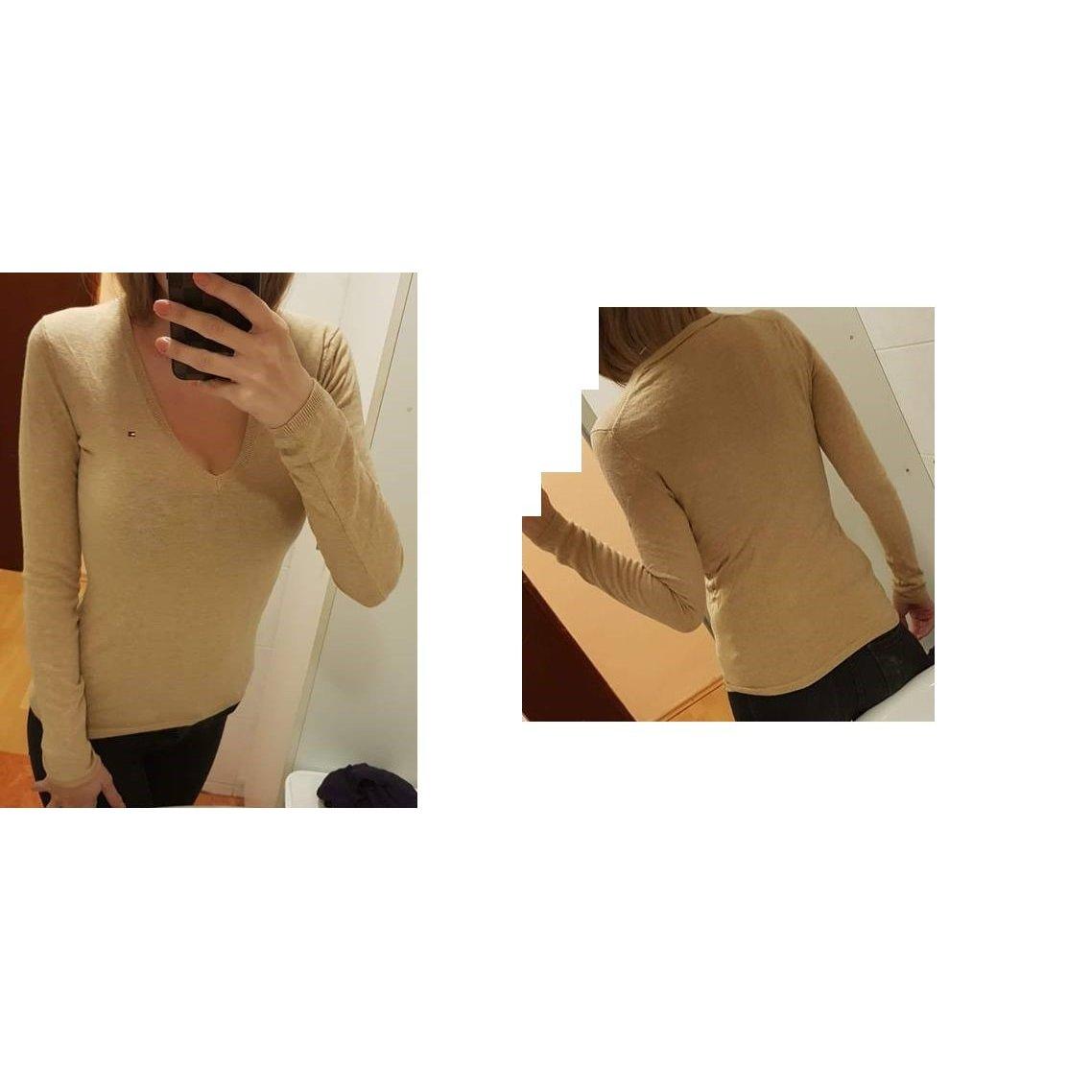Tommy Hilfiger V-Neck Sweater beige-camel