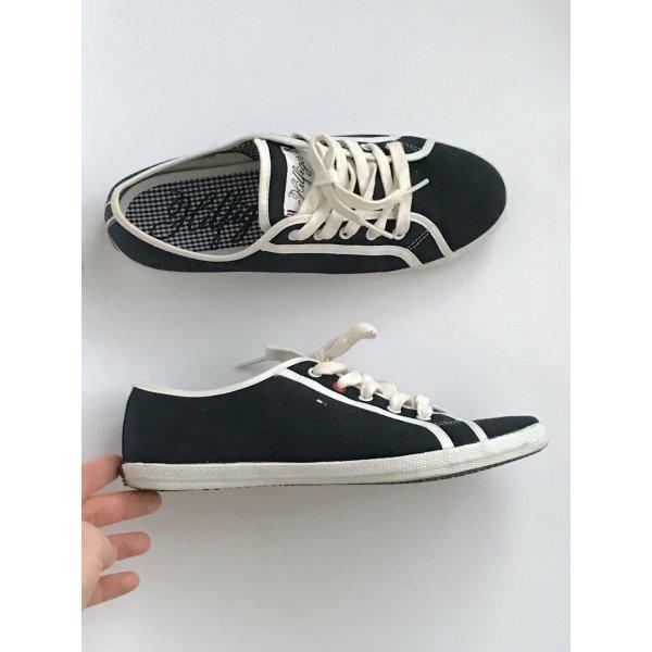 Tommy Hilfiger Sneakers dunkelblau weiss Gr 39 Turnschuhe Schuhe Gant Ralph Lauren