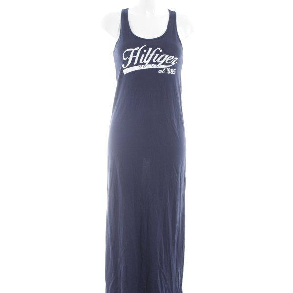 Tommy Hilfiger Sweatkleid dunkelblau-weiß sportlicher Stil
