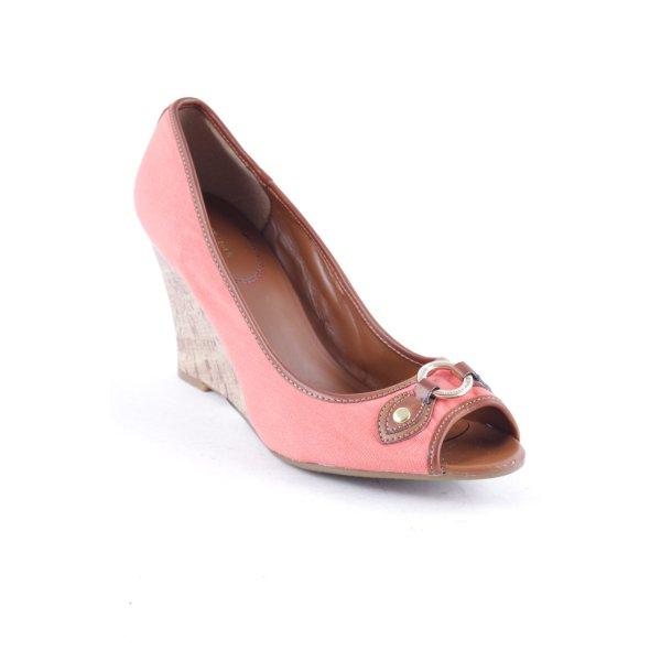 Tommy Hilfiger Wedge Sandals light orange-light brown casual look