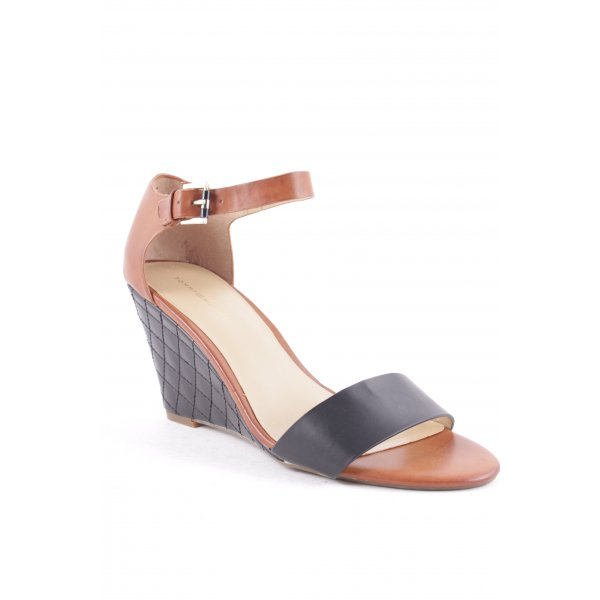 Tommy Hilfiger Wedge Sandals black-brown casual look
