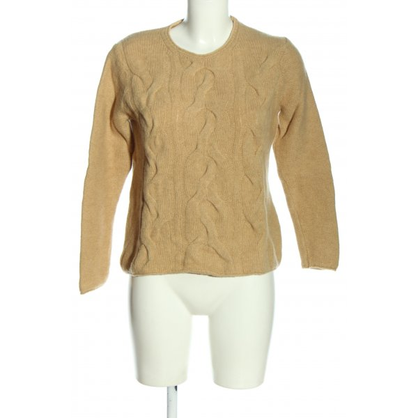 Tommy Hilfiger Wollpullover creme Zopfmuster Casual-Look