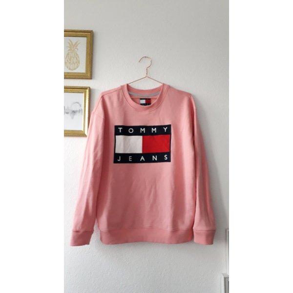 Tommy Jeans Denim Vintage Pullover Hilfiger Pink Lachs Koralle