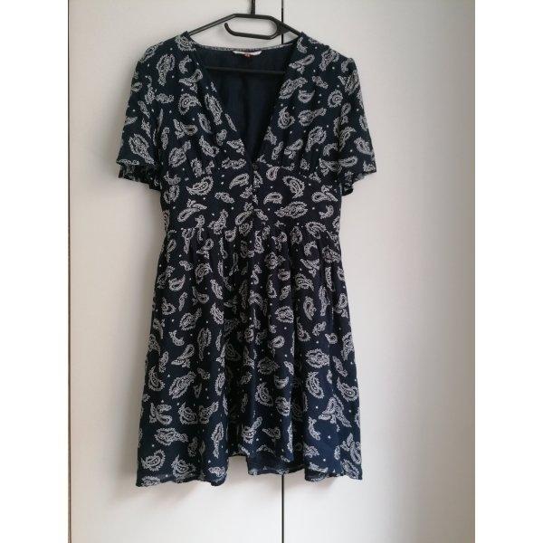 Tommy Jeans Kleid blau Muster XS 34 Hilfiger Sommerkleid