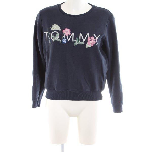 Tommy Jeans Sweatshirt blau-pink Blumenmuster Casual-Look