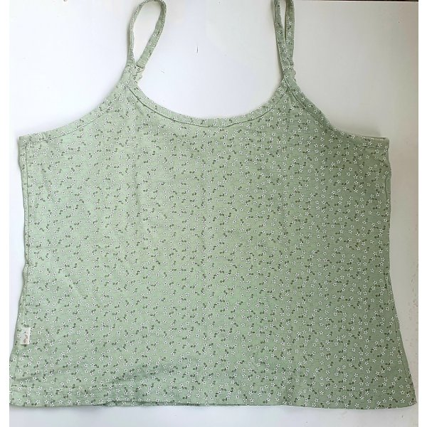 Top grün mit Blüten Print Gr L 40