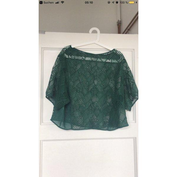 Mango Gehaakt shirt bos Groen-groen