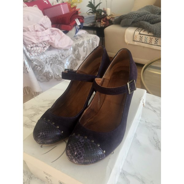Top Shop Jackal Mary Jane Schuhe Pump Lila Leder 39