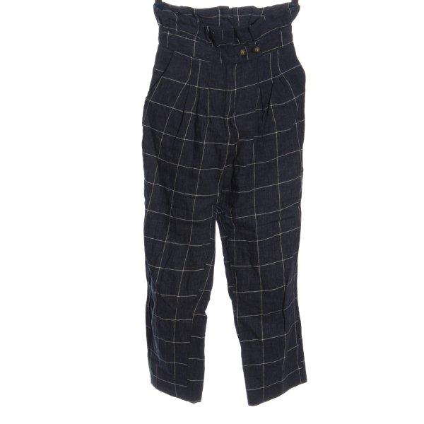 Topshop Baggy Pants blau-weiß abstraktes Muster Casual-Look