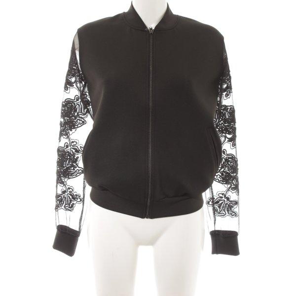 Topshop Blouson schwarz extravaganter Stil