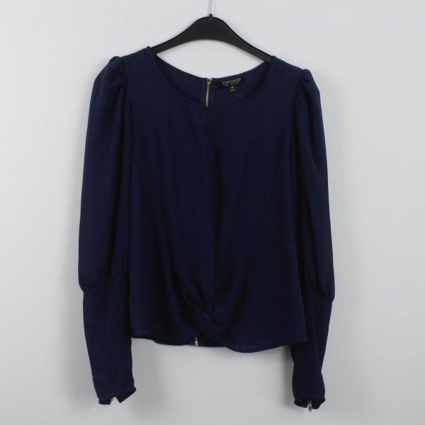 Topshop Bluse Gr. 36 dunkelblau