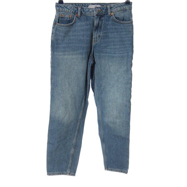 Topshop Boyfriendjeans blau Casual-Look
