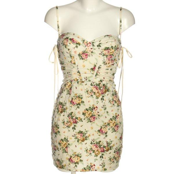 Topshop Bustierkleid Allover-Druck Elegant Blumenmuster Corsagenkleid Korsettkleid