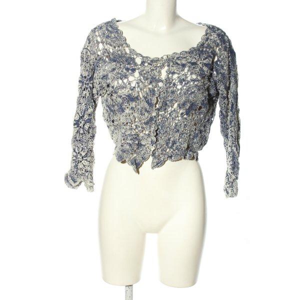 Topshop Cardigan blau meliert Street-Fashion-Look
