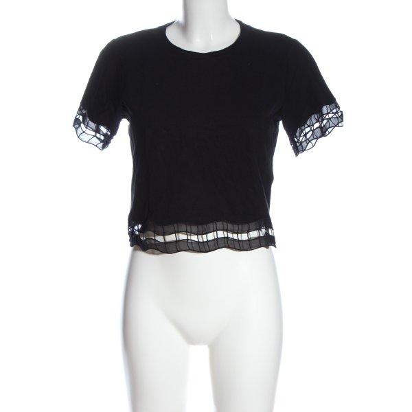 Topshop Cropped Shirt schwarz Casual-Look