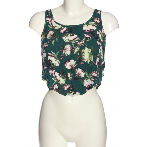 Topshop Cropped Top Allover-Druck Casual-Look