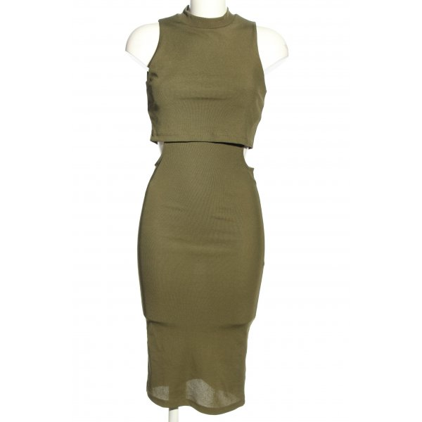 Topshop Cut-Out-Kleid khaki Casual-Look