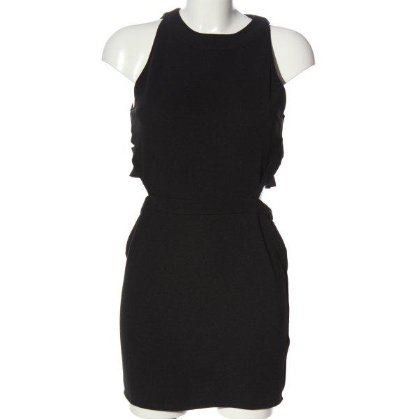 Topshop Cut-Out-Kleid schwarz Elegant