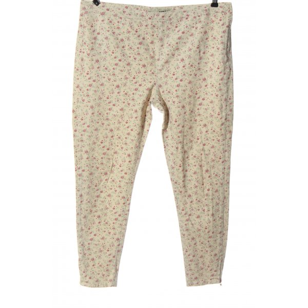 Topshop High Waist Jeans wollweiß-pink Allover-Druck Casual-Look