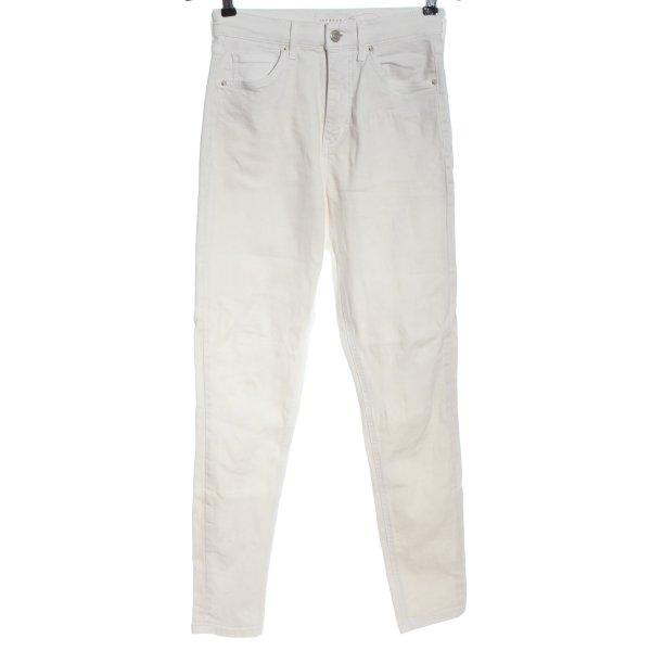 Topshop High Waist Jeans weiß Casual-Look