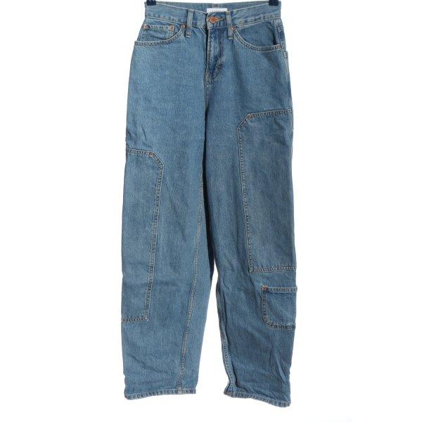 Topshop High Waist Jeans blau Casual-Look