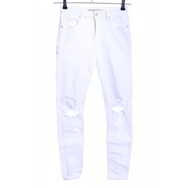 Topshop High Waist Jeans weiß Casual-Look